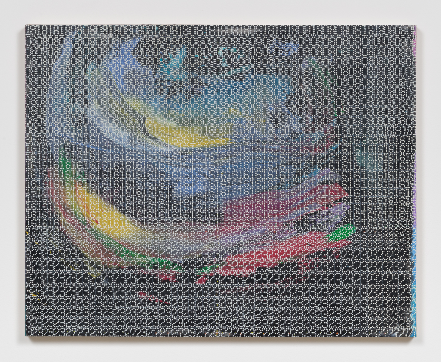 XYLOR JANE  Untitled (Three 727 digit Sophie Germain prime palindromes ), 2017  oil and colored pencil on paper mounted on board 16 x 20 inches