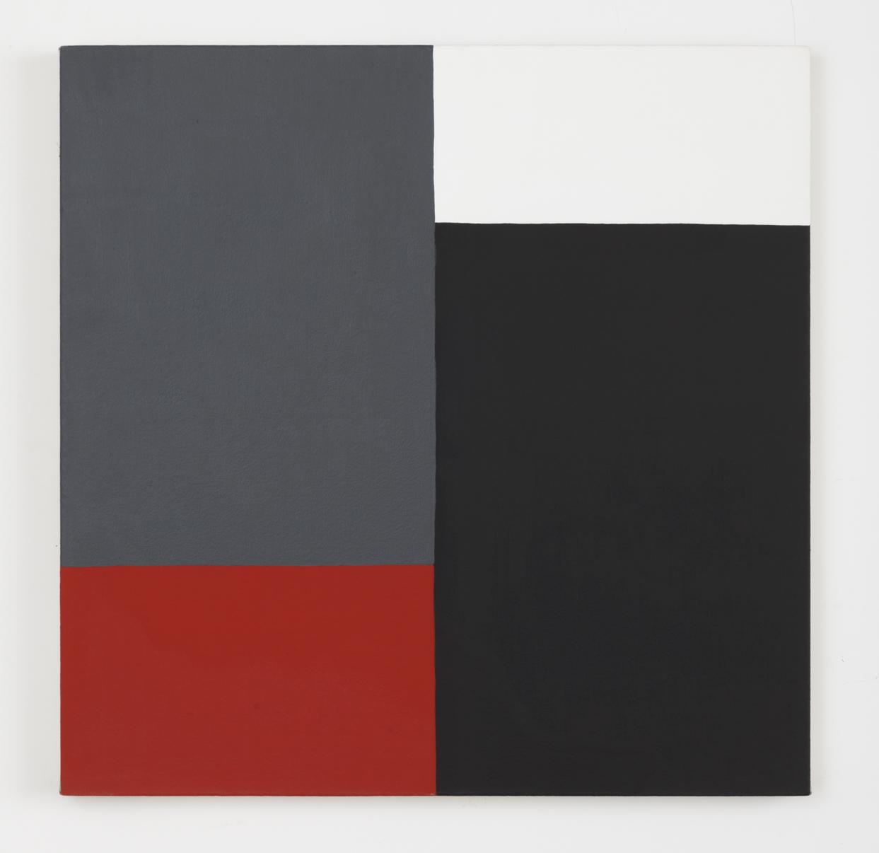 Edith Baumann  Untitled #4,  1977 acrylic on canvas 26 - 1/4 x 26 - 1/4 inches