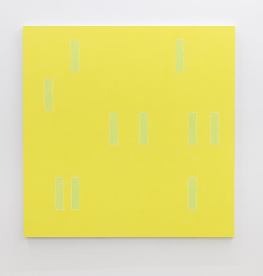 Edith Baumann  Random Structure No.90,  2014 raw pigment, acrylic on canvas 60 x 60 inches