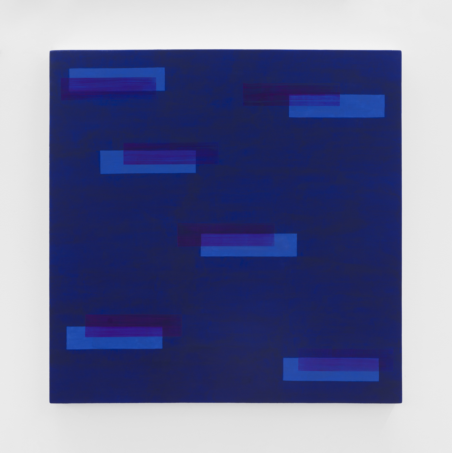 Edith Baumann  Pattern Recognition #20 , 2018 ground pigment and acrylic on canvas 33 x 33 inches