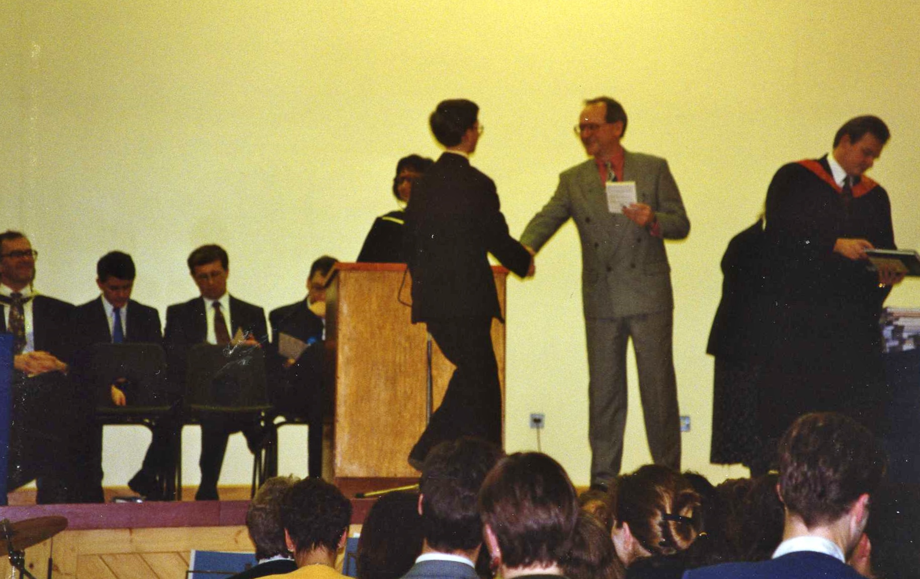 Timothy as a pupil of the school, receiving an award in November 1994!