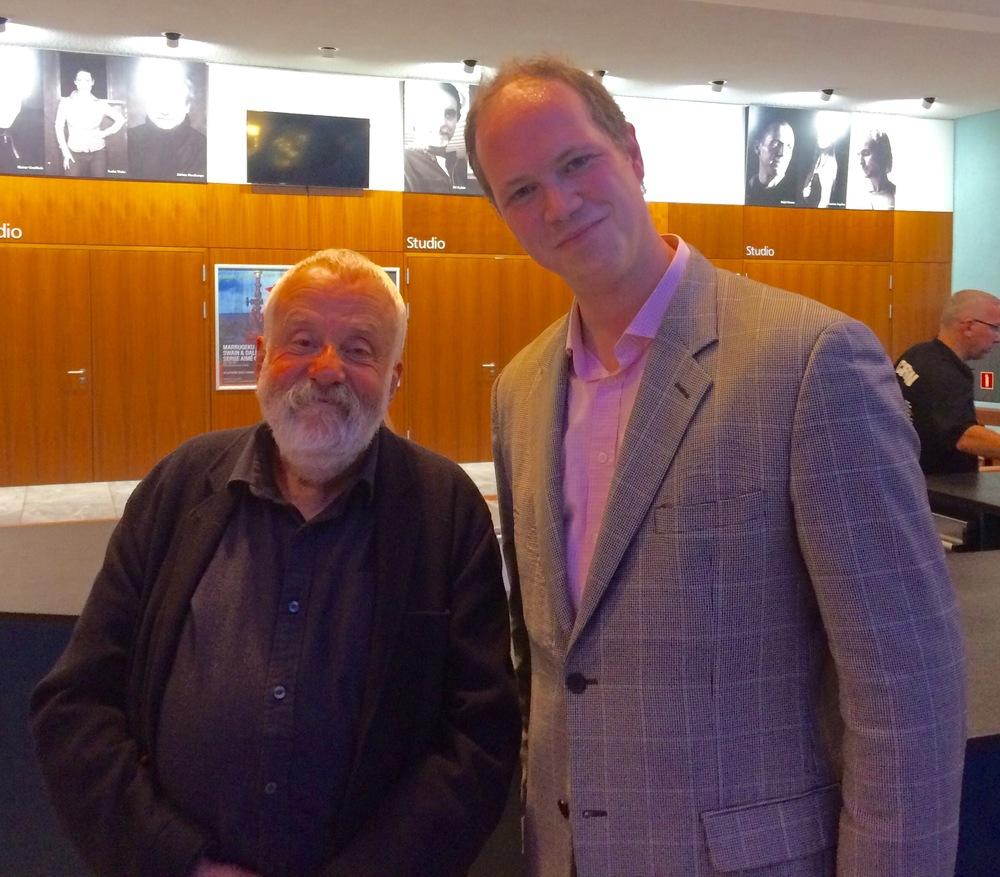 with director Mike Leigh