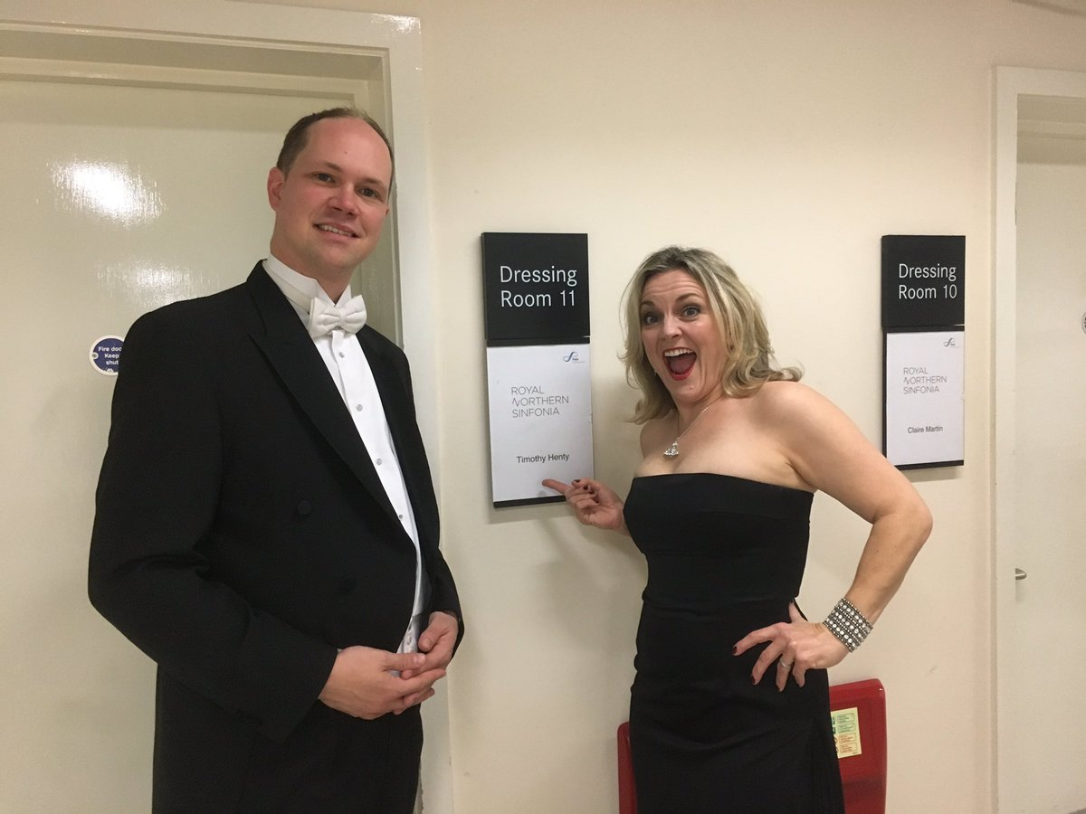 with Claire Martin before a performance