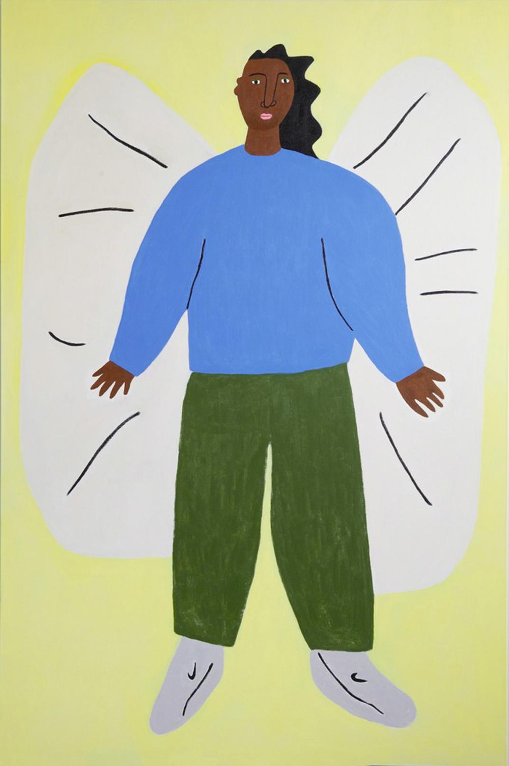 Guardian Angel in Nikes  | Lilian Martinez,  2016 Acrylic on canvas courtesy of Artsy