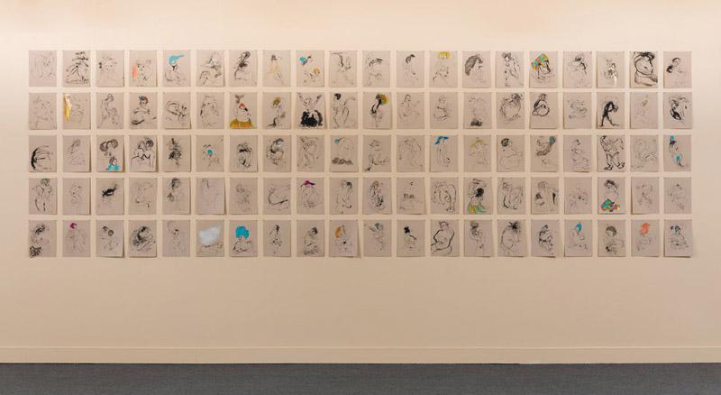 "Kenyatta A.C. Hinkle, ""The Evanesced,"" installation shot via  Huffington Post"