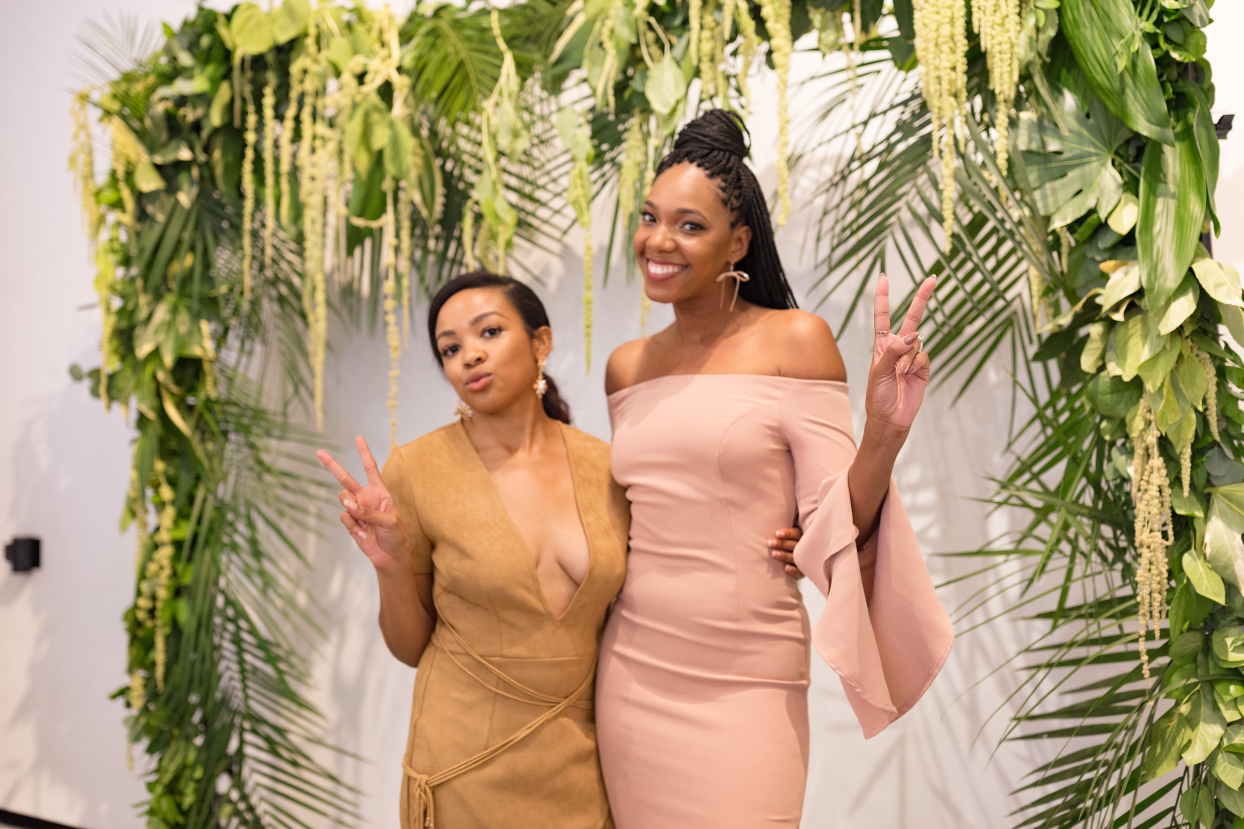 PBE founder, Brittany Brown, poses with Keyanna Sawyer-Jones, founder of Bleum Creative.