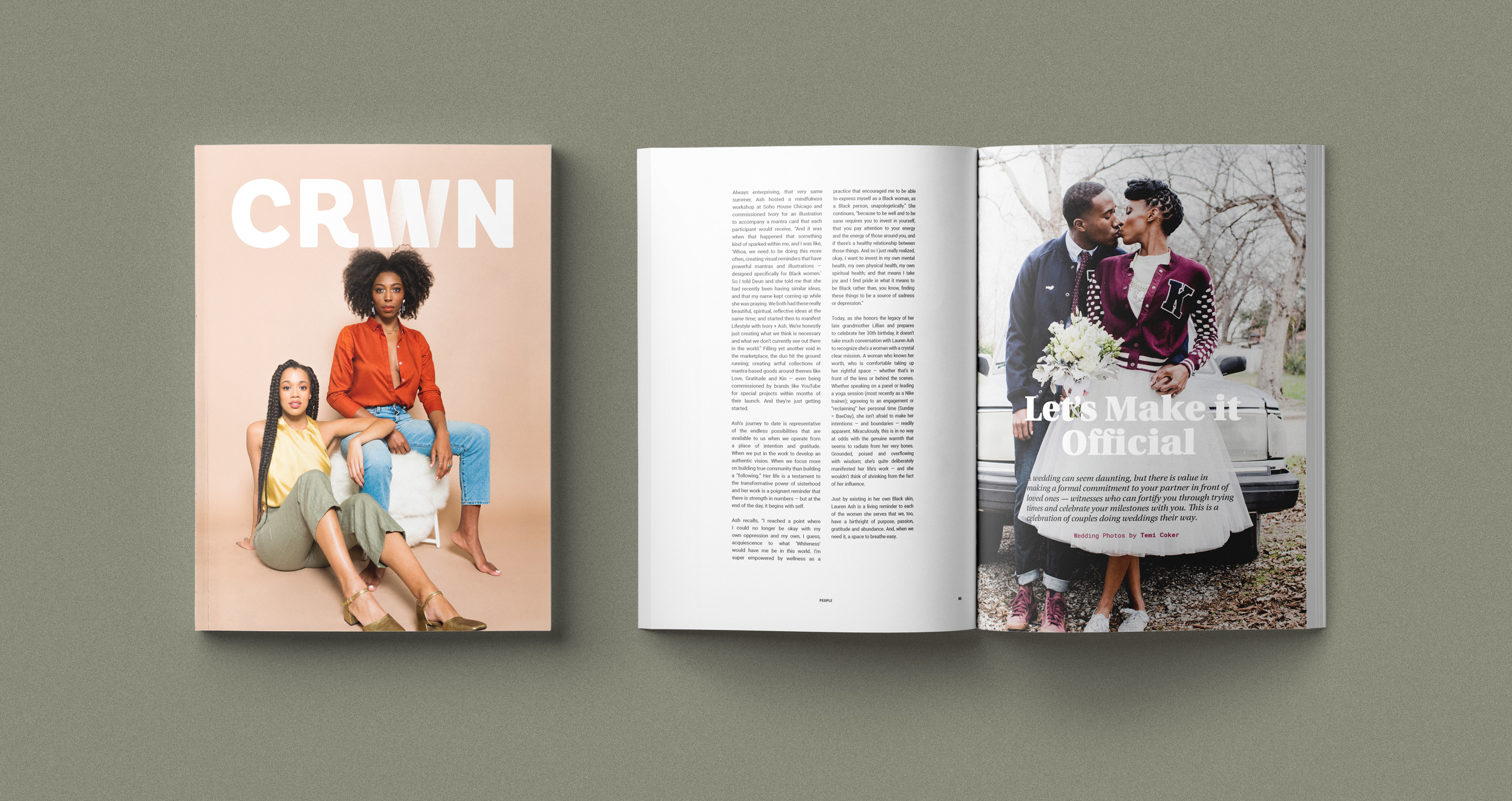 The Love Issue features the wedding photography of  Temi Coker , who also happens to be the person who introduced Lauren and Deun!