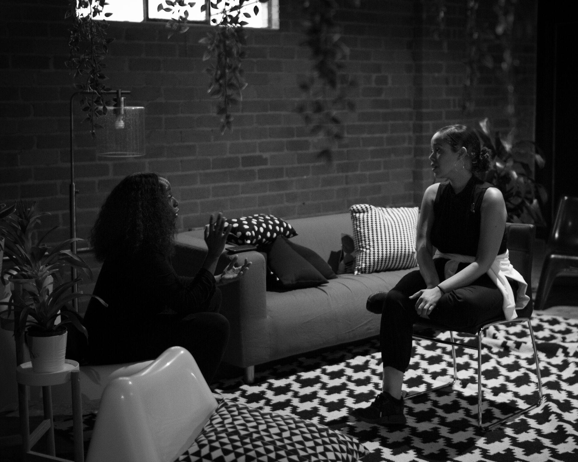 Tracey Bing & Lindsey Day at Vector 90.  Photography: Nkrumah Farrar