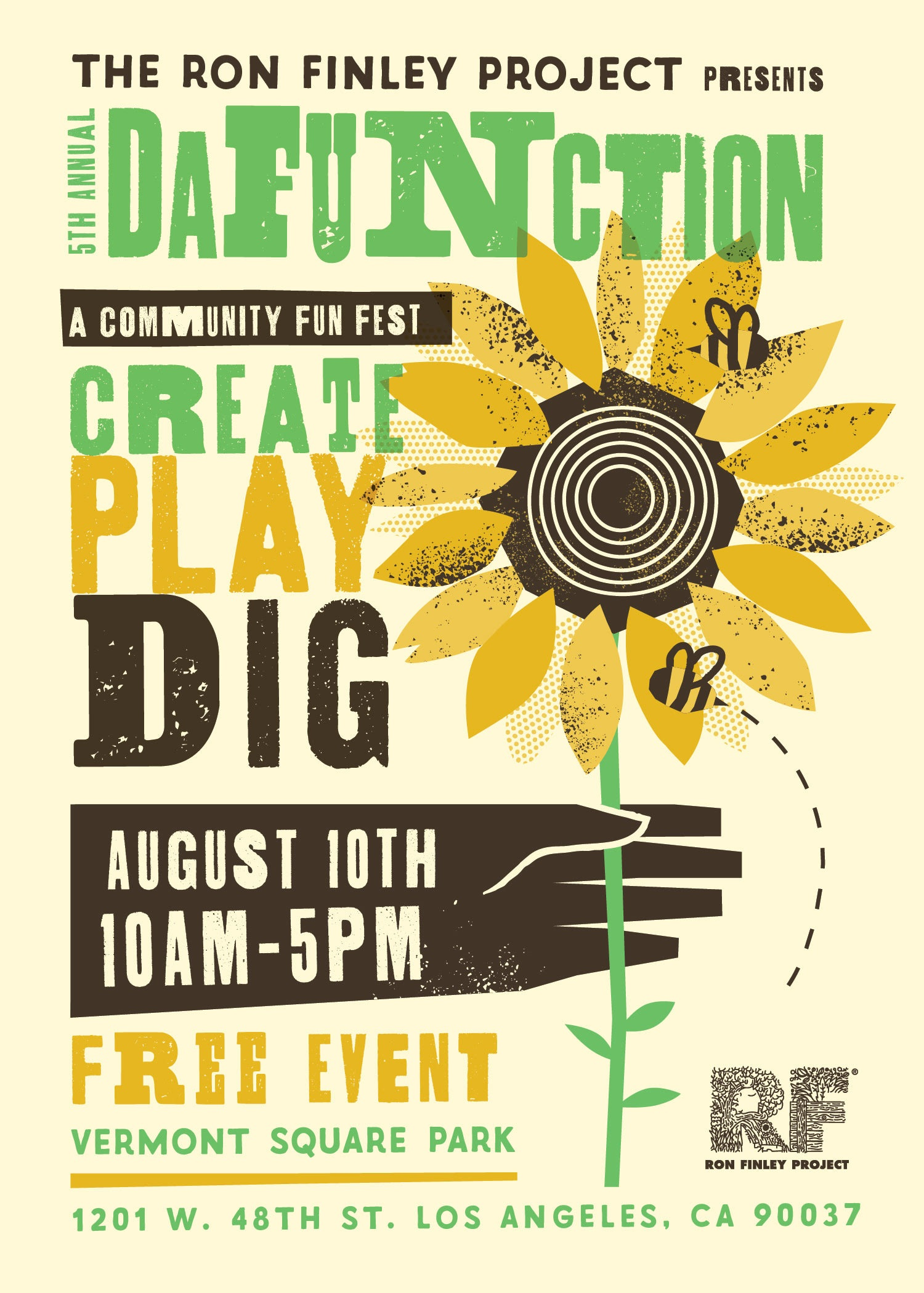 Da FUNction is a one-day community fun fest full of art, activities, music and workshops designed to bring a wide range of LA communities together around a lifestyle that is beautiful, healthy and full of life-giving culture. Da FUNction is a FREE, family-friendly event.  RSVP HERE