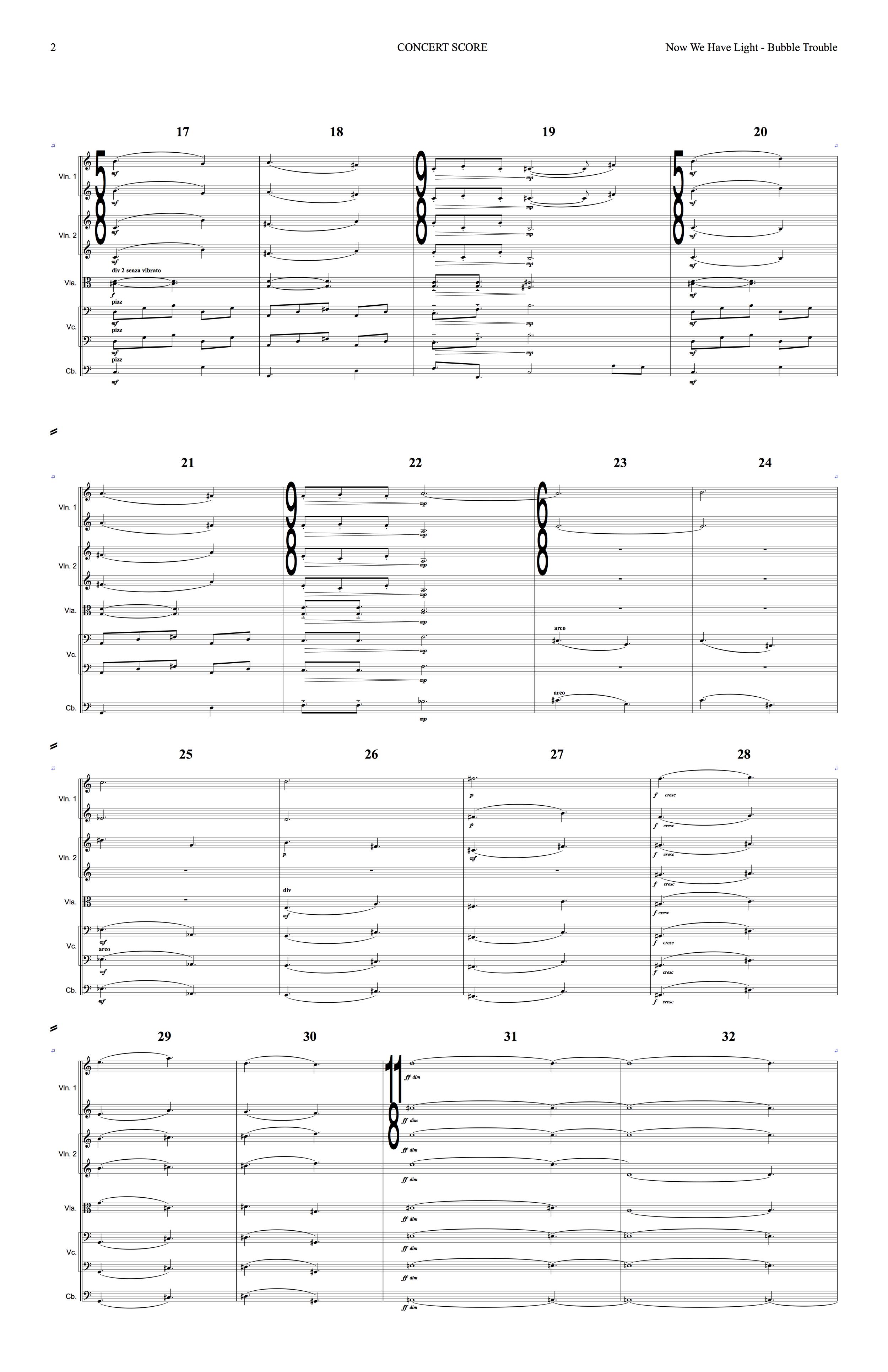 Sanguine Hum - 'Bubble Trouble' - string arrangement page 2