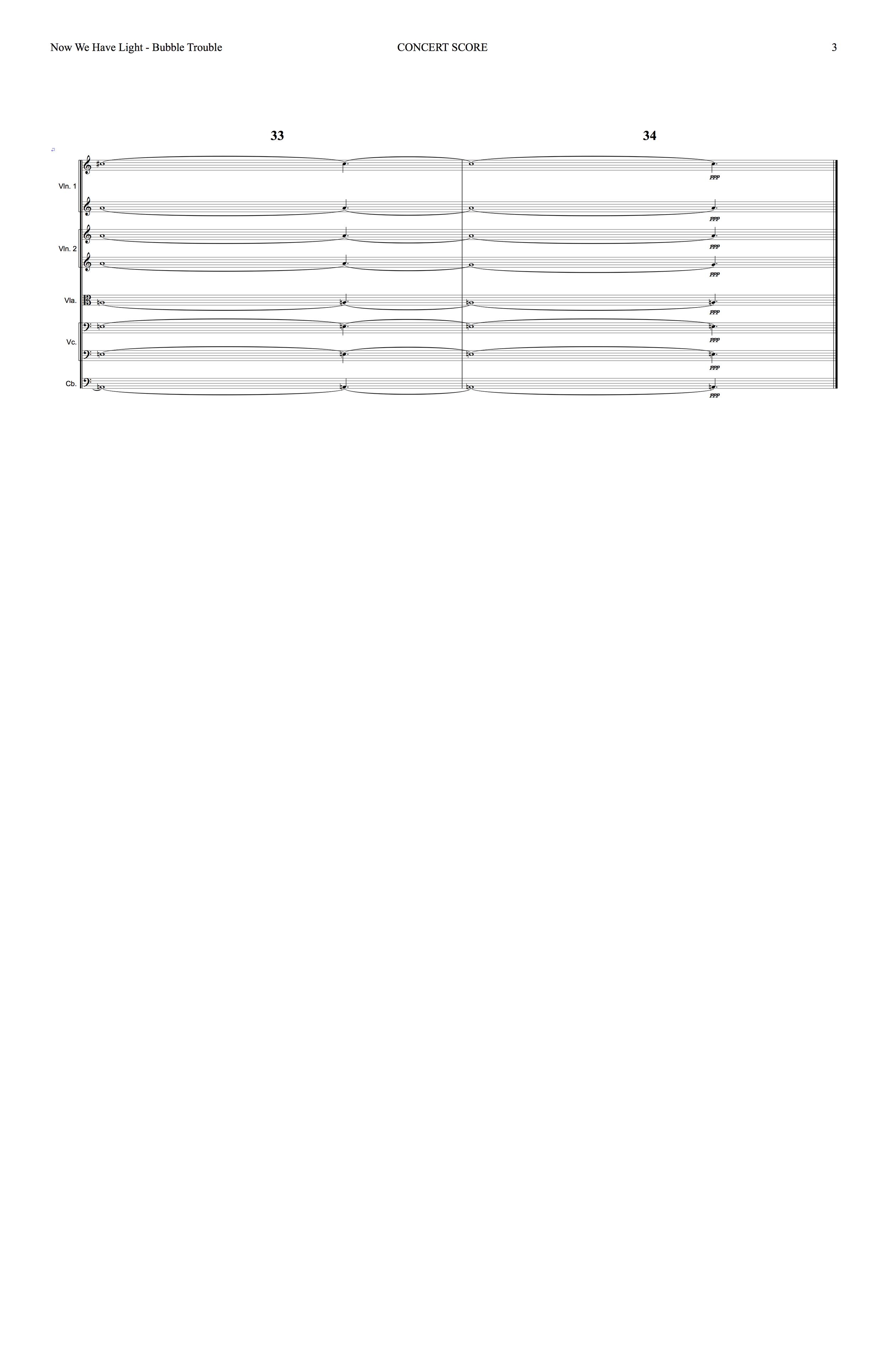 Sanguine Hum - 'Bubble Trouble' - string arrangement page 3