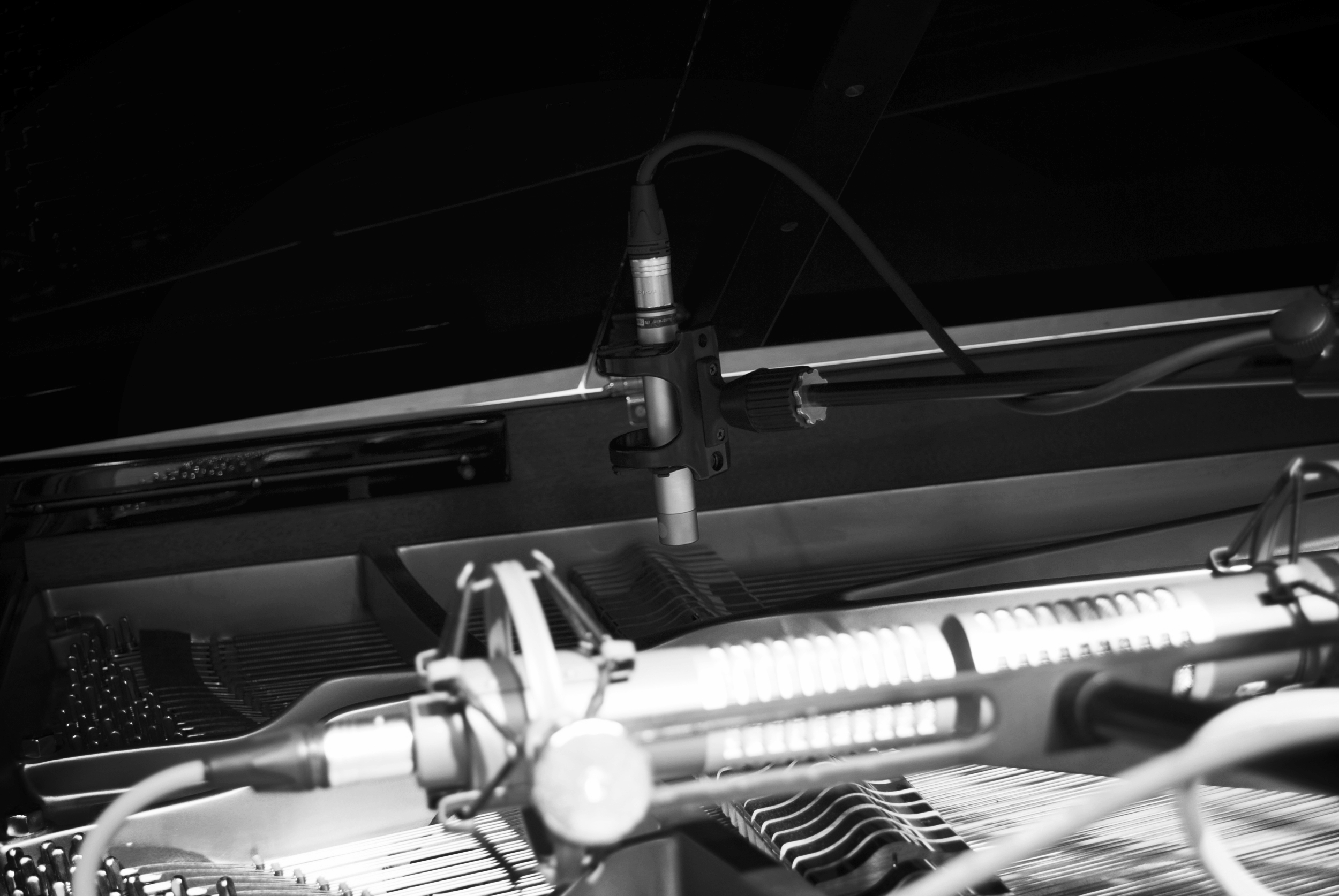 How To Record A Grand Piano - Rode NT5, Photograph By Joff Winks ©2016