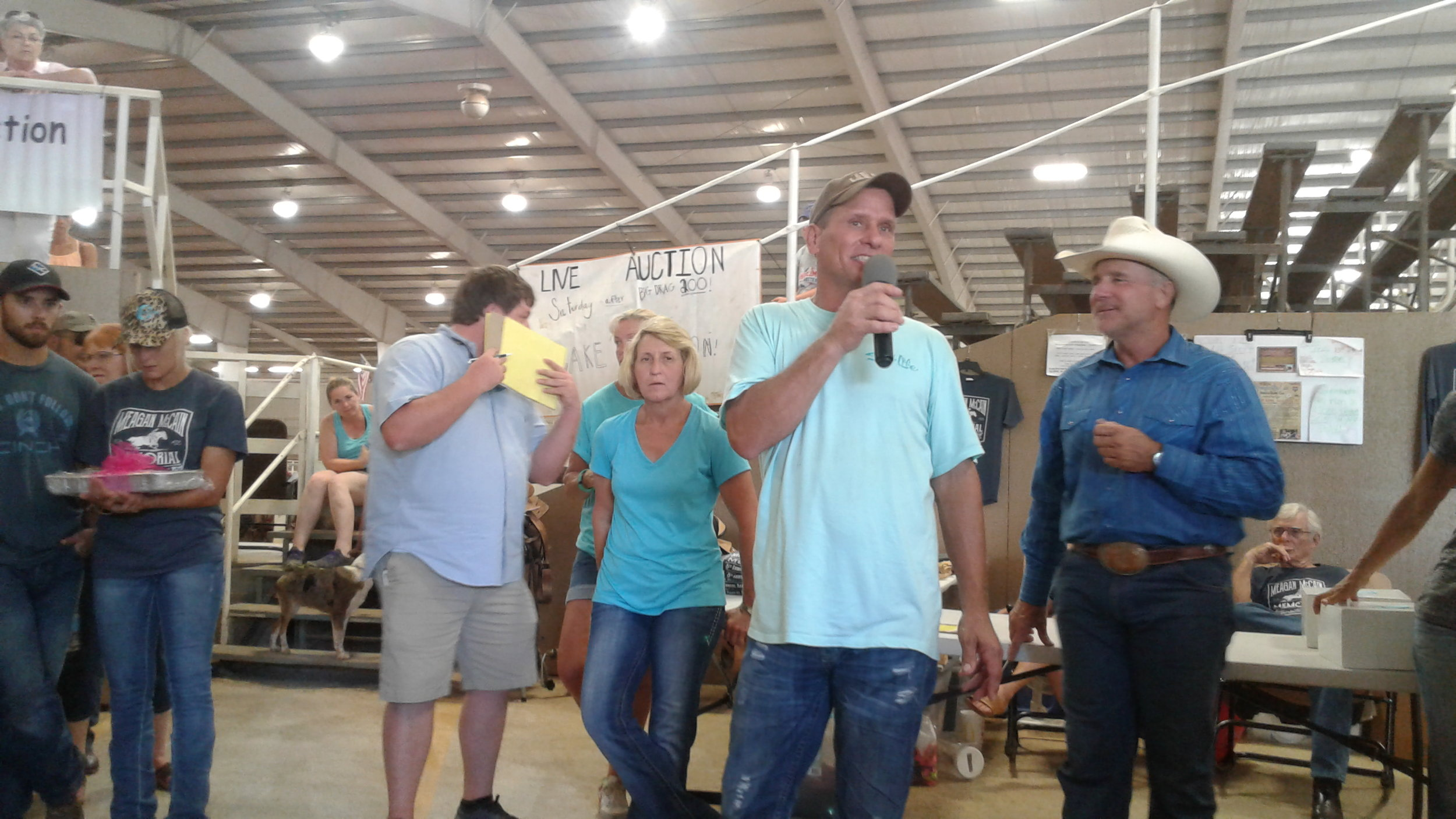 Brett Monroe served as our auctioneer.