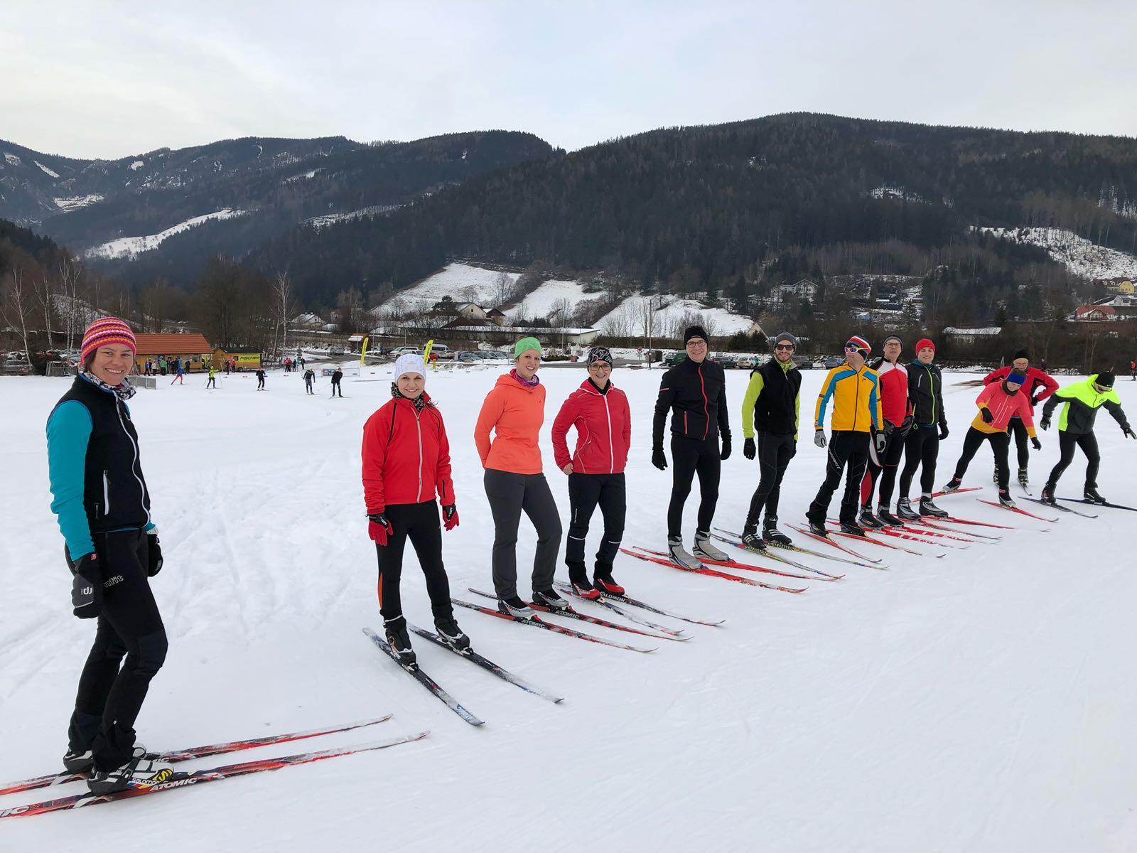 Februar 2018: Langlauftraining für die Mitarbeiter der RHI AG Leoben