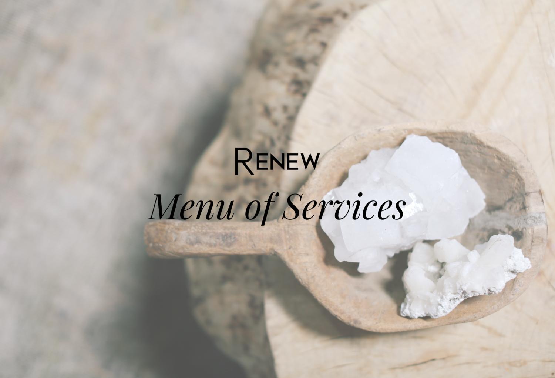 Menu of Services — Renew Medical Spa + Laser + Wellness