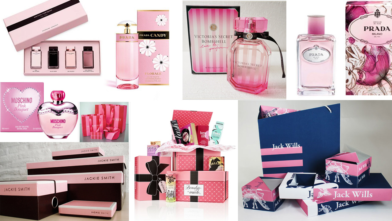 Mood board of Perfume Packaging research.