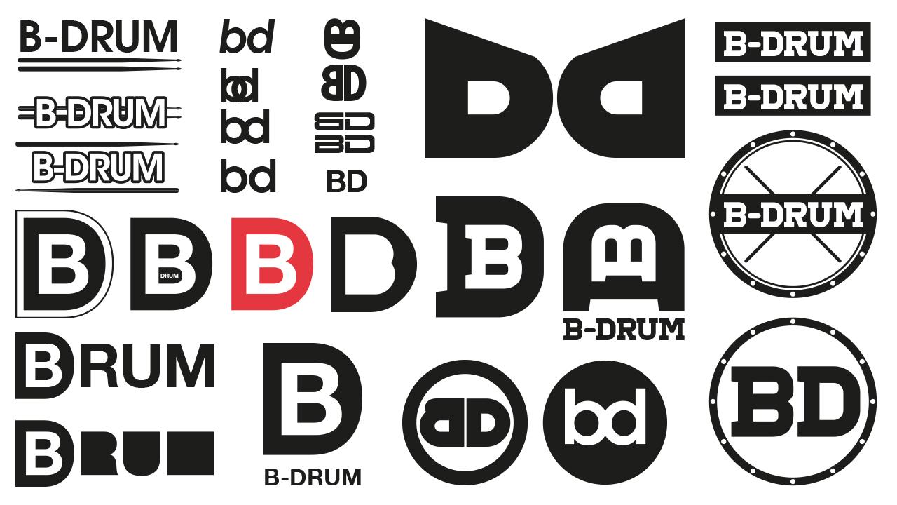 B_Drum Logo options