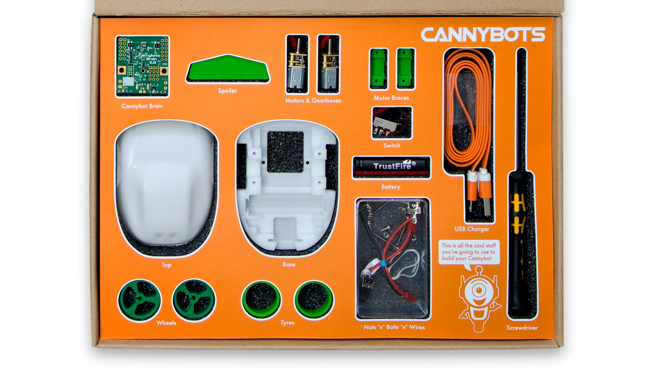 CannyBots Packaging Interior