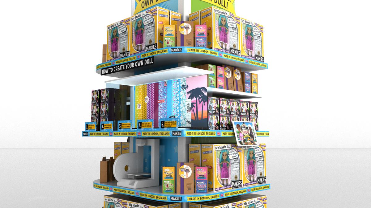 3D visual for Makies 2014 Selfridges Store.