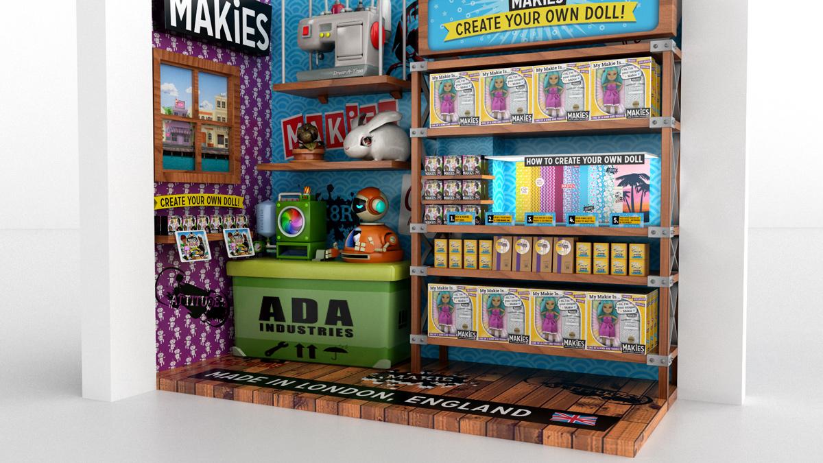 3D visual for Makies 2014 Fantasy World Toys Store,Dubai.