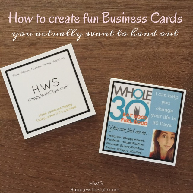 how to create fun business cards