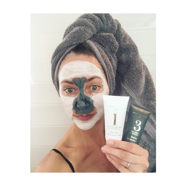 """The ultimate Multi-Tasking is """"Multi-Masking""""!  I used the #1 Brightening + Vitamin C on my entire face to treat dark spots and #3 Balancing +Charcoal on my T-Zone to shrink pore size!"""