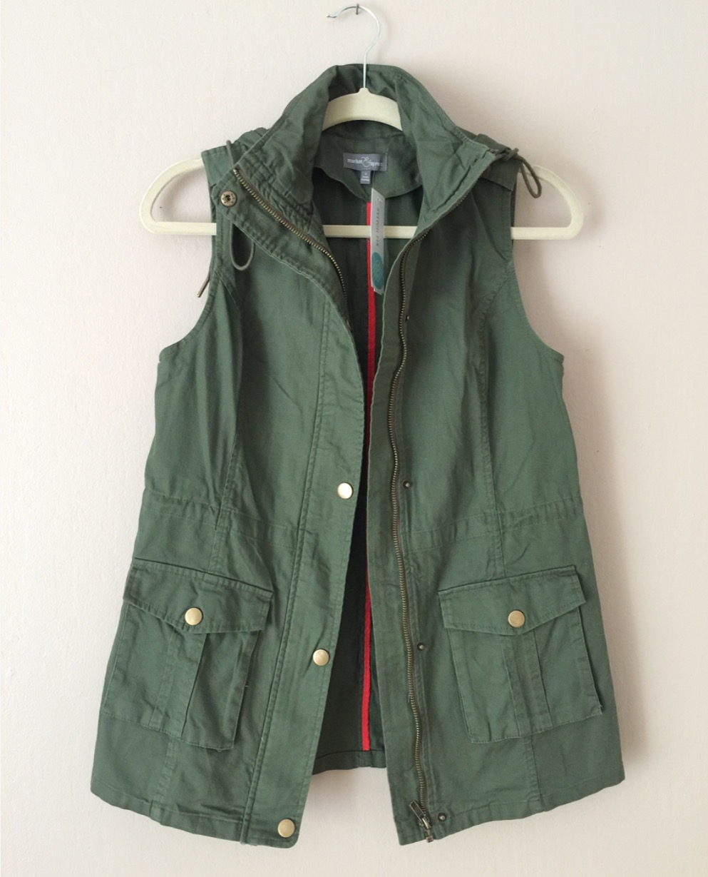 Market & Spruce - Jahana Cargo Vest from Stitch Fix - $68