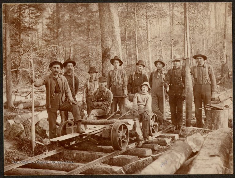 Section Crew at William, W. Va., 1903 via WVU West Virginia & Regional History Center
