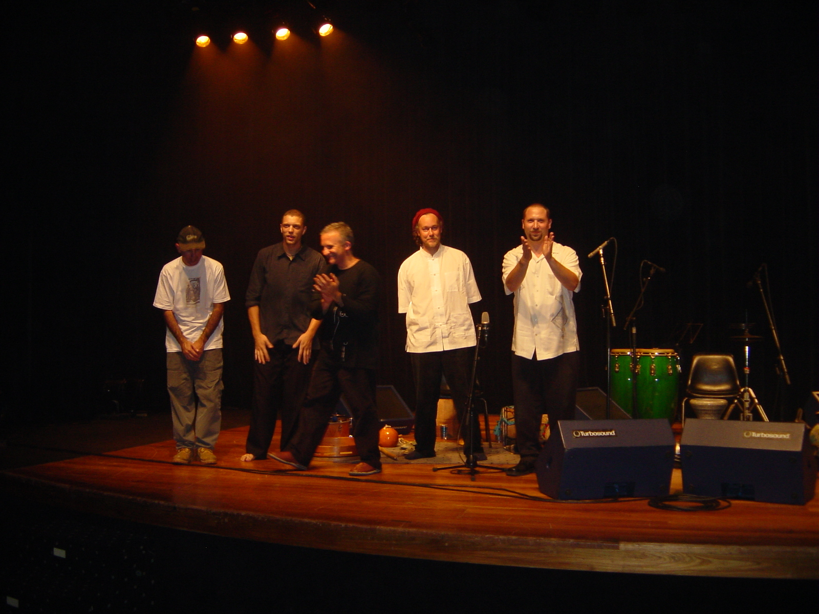 Hands On'Sembleand Duo Ello (Carlos Stasi and Guello) in Concert at SESC Santo Andre, Sao Paulo August 13th, 2003.