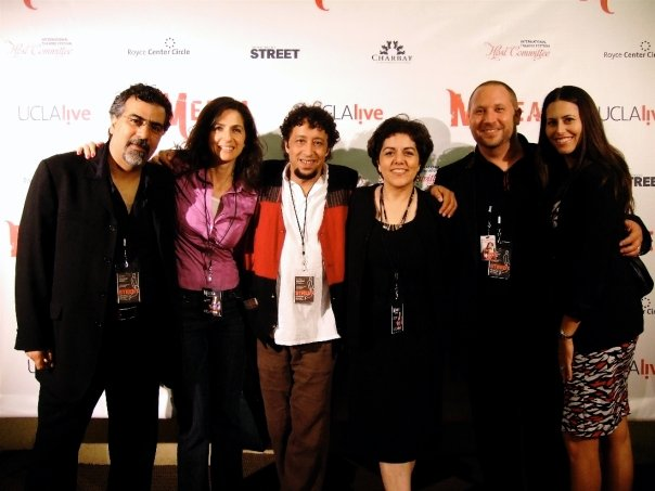 Medea after party opening night.  L-R: Houman Pourmehdi, Maryam Edrisi, Maryam Edrisi, Brahim Fribgane, Pirayeh Pourafar, Randy Gloss, Annissa Gloss.