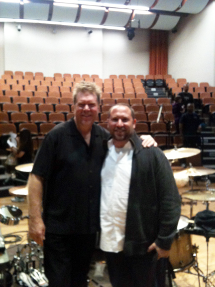 "Randy Gloss and John ""J.R."" Robinson  PAS Central California Day of Percussion  CSU Fresno.  March 2012."