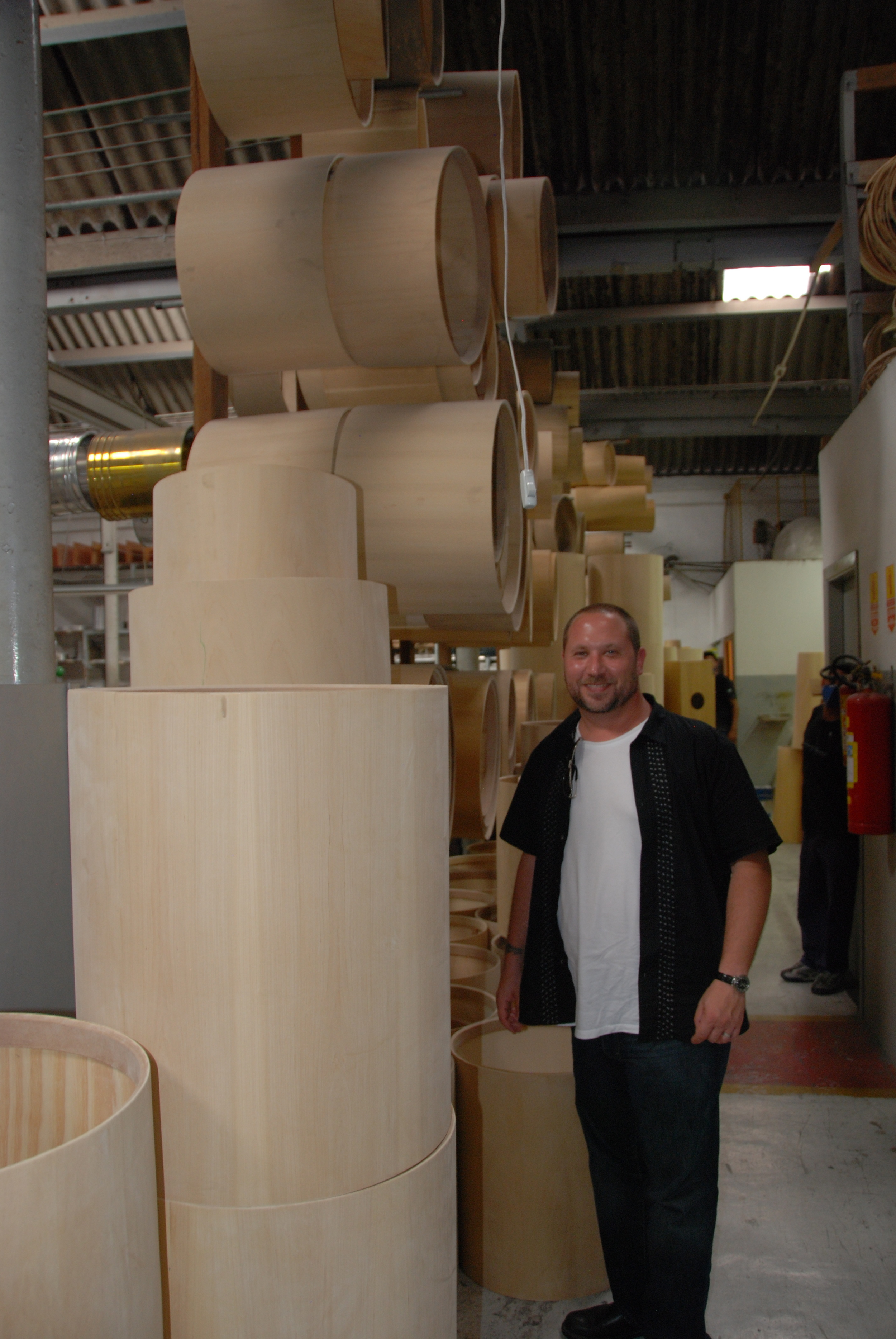 Randy at the Contemporanea factory in Sao Paulo Brazil, November 2009.