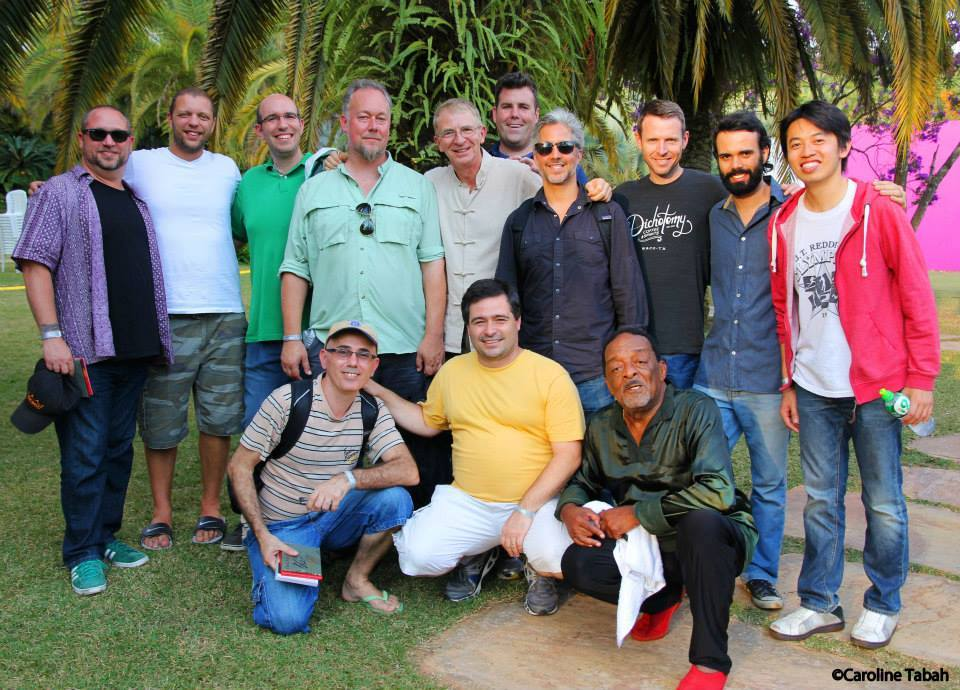 group photo II Festival Internacional de Música Percussão Contemporânea with Nana  Inhotin, Minas Gerais Brazil, 2014.
