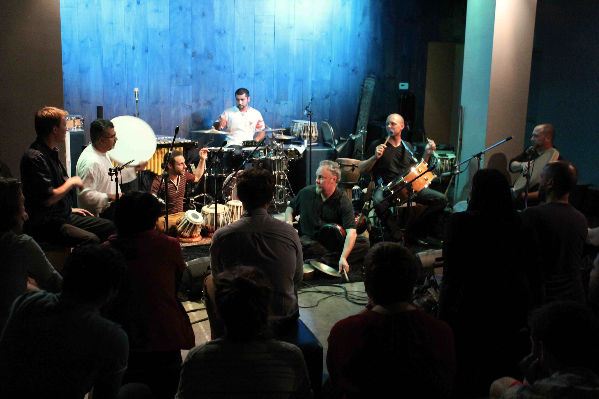 Hands On'Semble with Houman Pourmehdi and Rhein Percussion  at the Blue Whale, Los Angeles CA Sept 7th 2013.