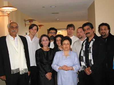 Lian Ensemble with 2003 Nobel Peace Prize recipient Shirin Ebadi. Lecture/concert at Royce Hall, UCLA May 14, 2004.