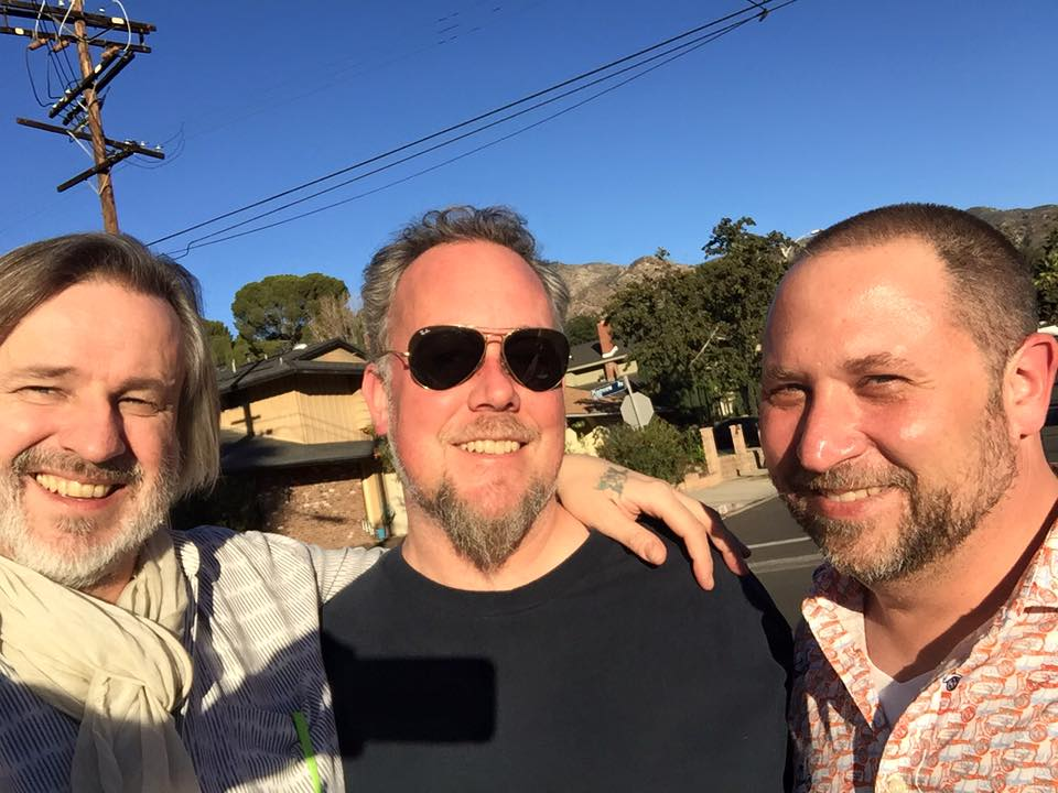 Pete Lockett, Austin Wrinkle, Randy Gloss  at Randy's house after rehearsal 11/21/15