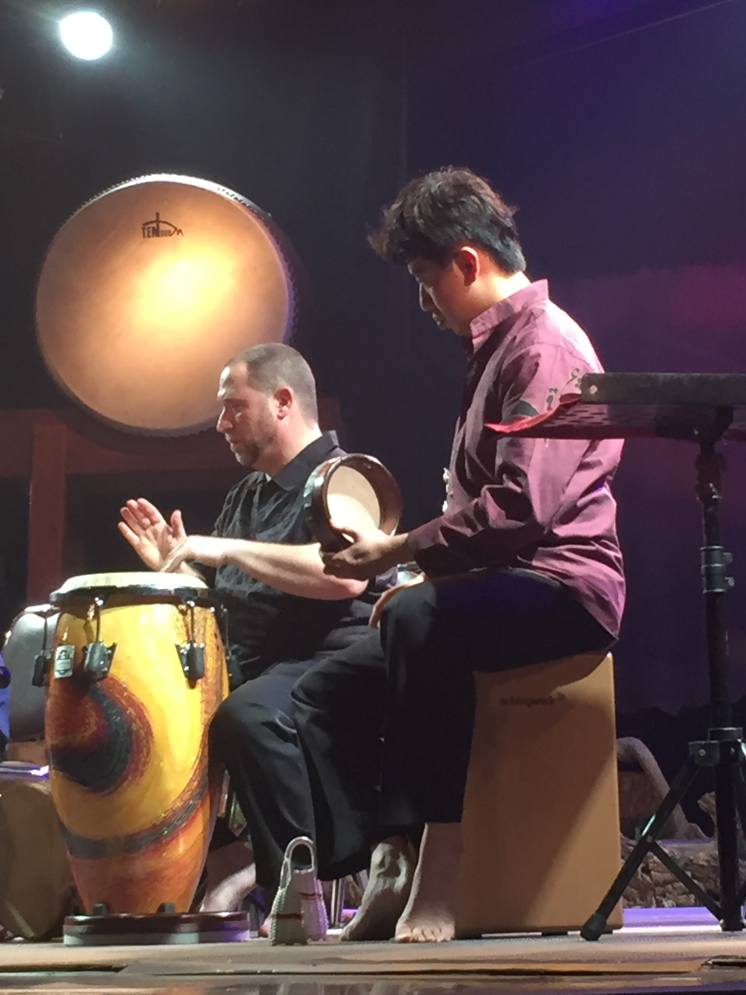 Randy and Andy.  Hands On'Semble. 2016 Tainan International Drum Festival.  Ten Drum, Kaohsiung Taiwan, February 11th 2016.