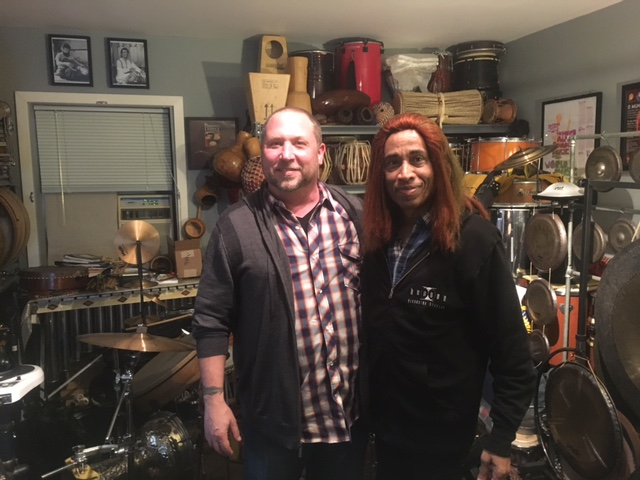 visit to my studio by Shenkar (L. Shankar).  It was real honor and pleasure to have him over to the house and to have the opportunity to play for him.  Nov. 26th, 2016.