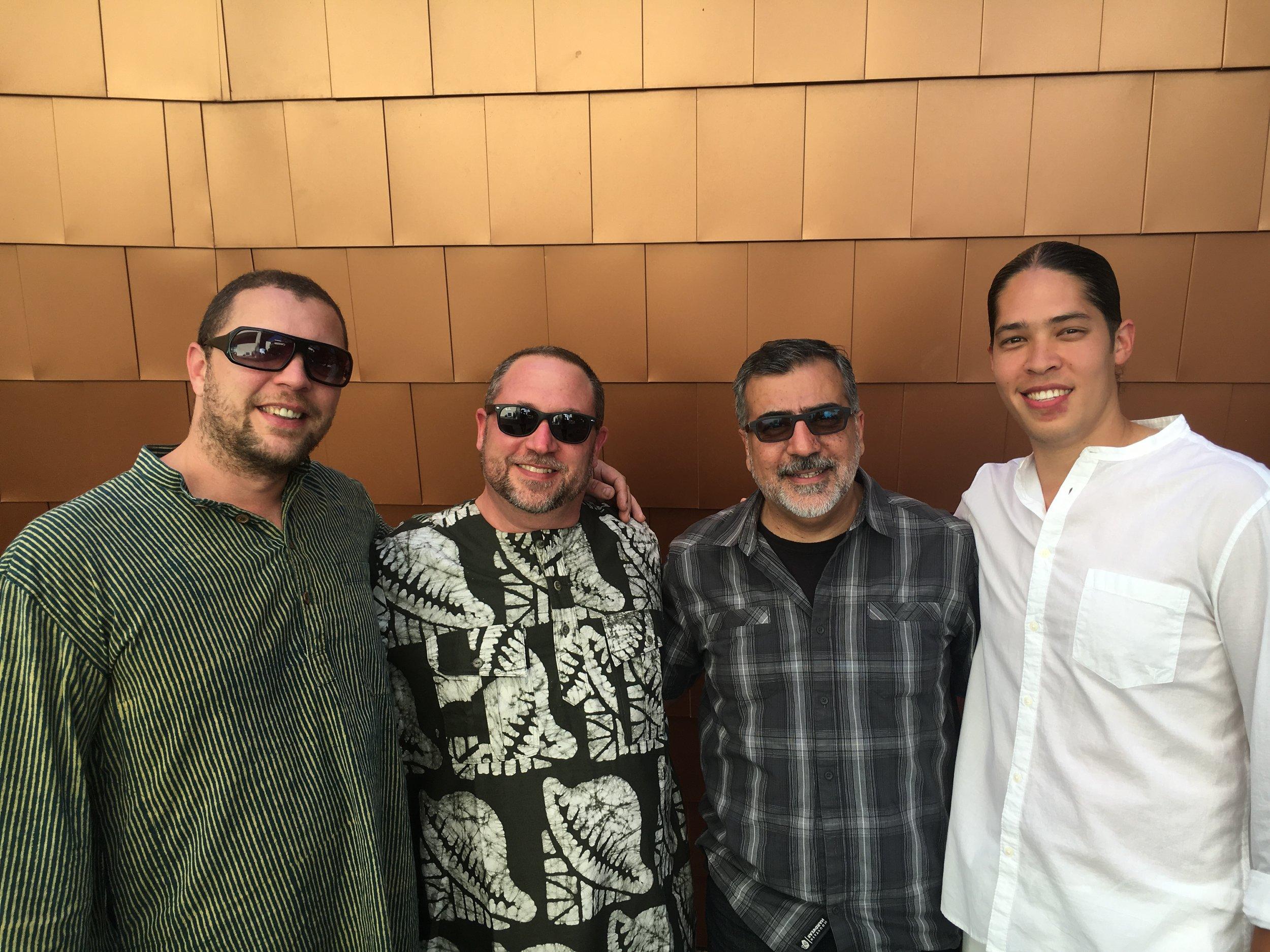 L-R: Andrew Grueschow, Randy Gloss, Houman Pourmehdi, Alex Shaw  CalArts World Music Festival 2017