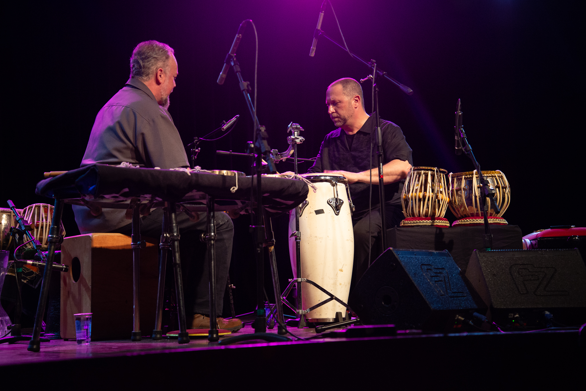 Hands On'Semble (duo: Randy Gloss & Austin Wrinkle), 2FIP FESTIVAL INTERNACIONAL DE PERCUSSÃO DE CURITIBA, July 21st, 2018.  photo: alex figueiredo