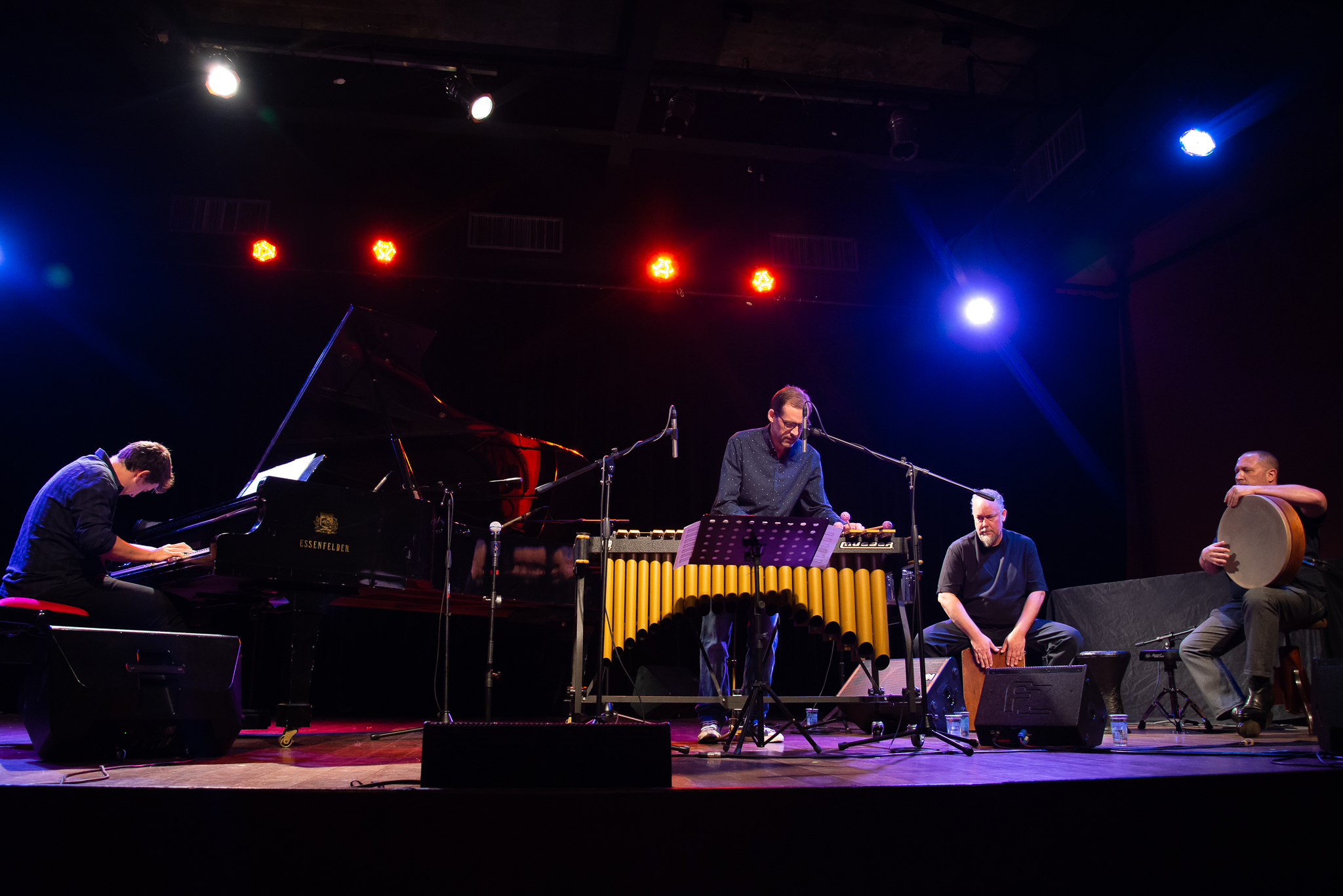 Austin & Randy sitting in with Duo Clavis, 2FIP FESTIVAL INTERNACIONAL DE PERCUSSÃO DE CURITIBA, July 19th, 2018.  photo: alex figueiredo