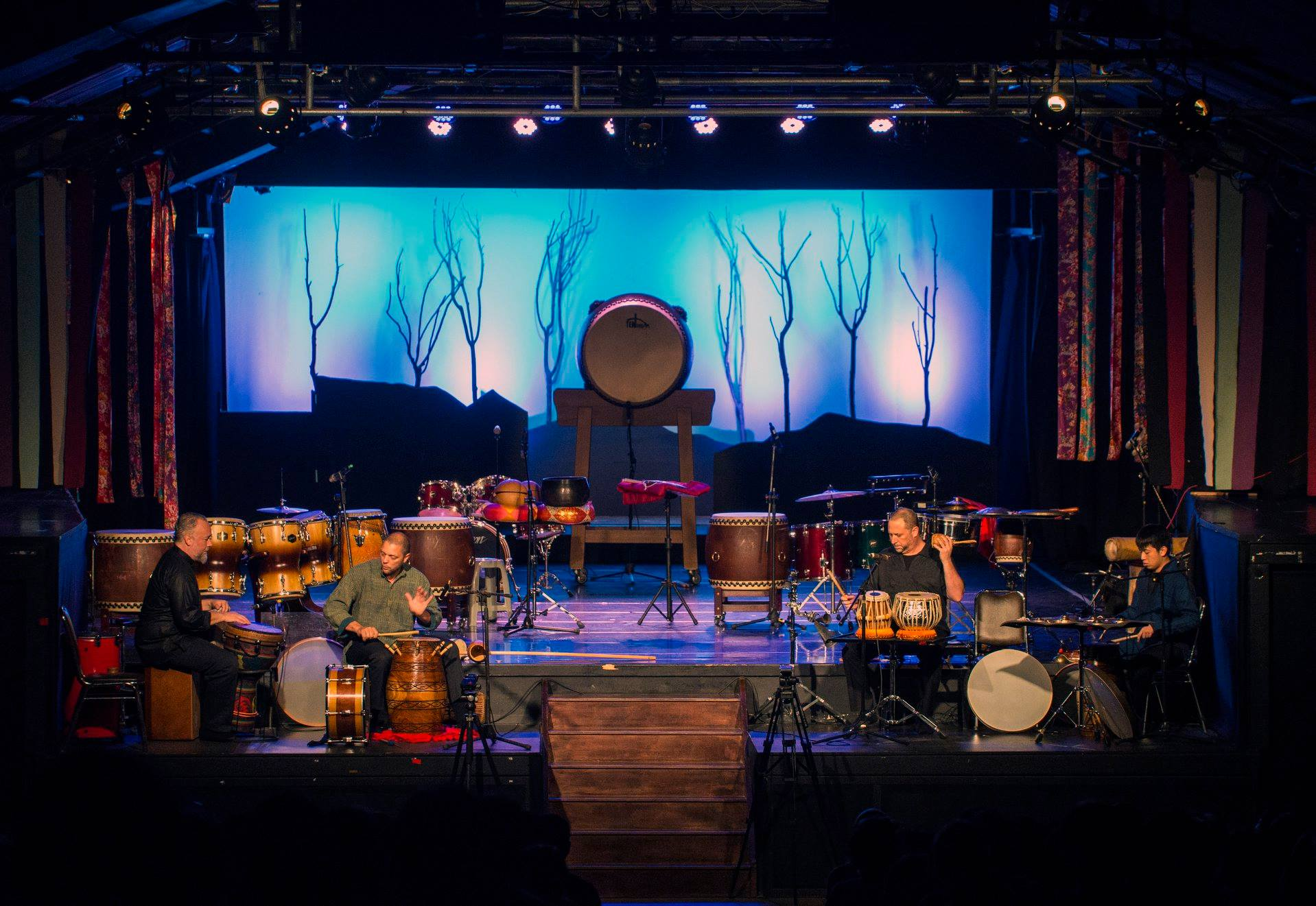 Hands On'Semble & Ten Drum Concert at Ten Drum Village, Tainan Taiwan.  August 26th, 2018.