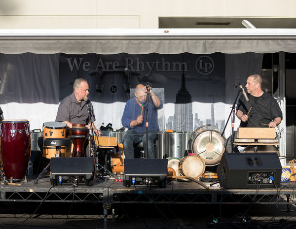 Hands On'Semble (L-R: Austin Wrinkle, Andrew Grueschow, Randy Gloss).  CalArts World Music & Dance Festival 2018. Friday April 27th, 2018 at the LP Concert Stage, Valencia CA.