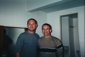 Randy and Guello.  my very first lesson with Guello.  Ritmos da Terra , Campinas Brazil 2000.