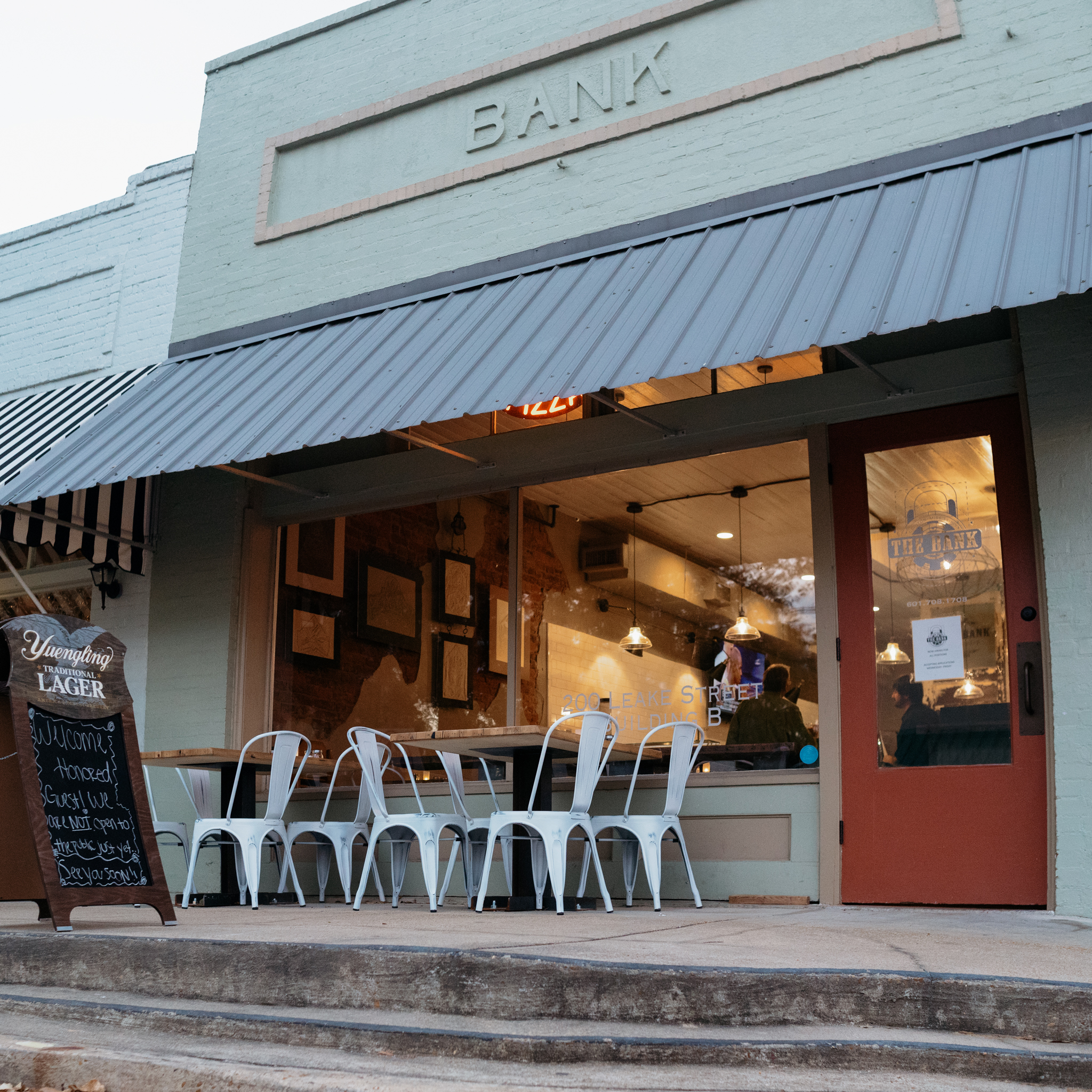 The Bank is a full-service restaurant and bar serving Mississippi-style pizza.