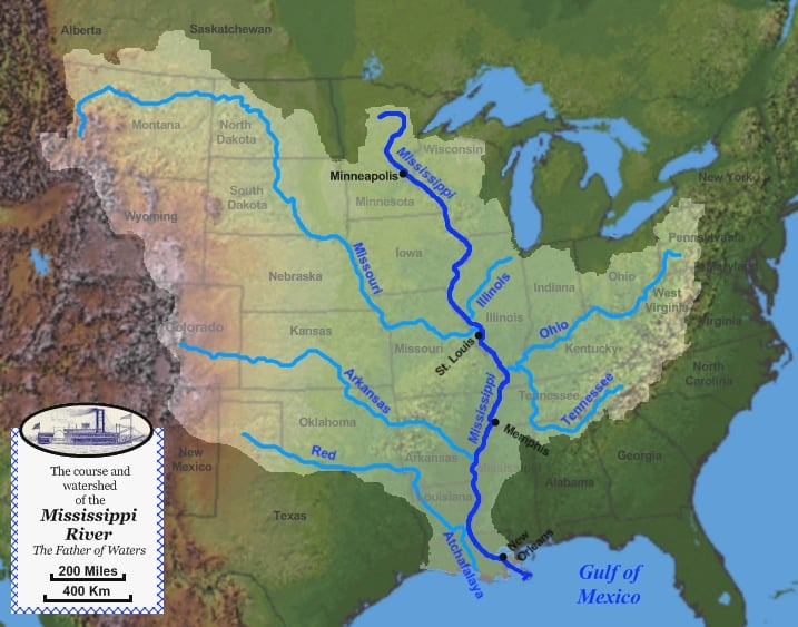 Mississippi Watershed (Source: United States Geological Survey)