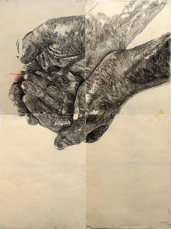 Jorge l. Cruz | unjust#2 l charcoal on paper, 2015 | 160x120cm l © k37 studio, bethanien Berlin (colect.nr00046)