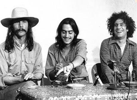 Tom Forcade, Mayer Vishner, Abbie Hoffman, 1971.
