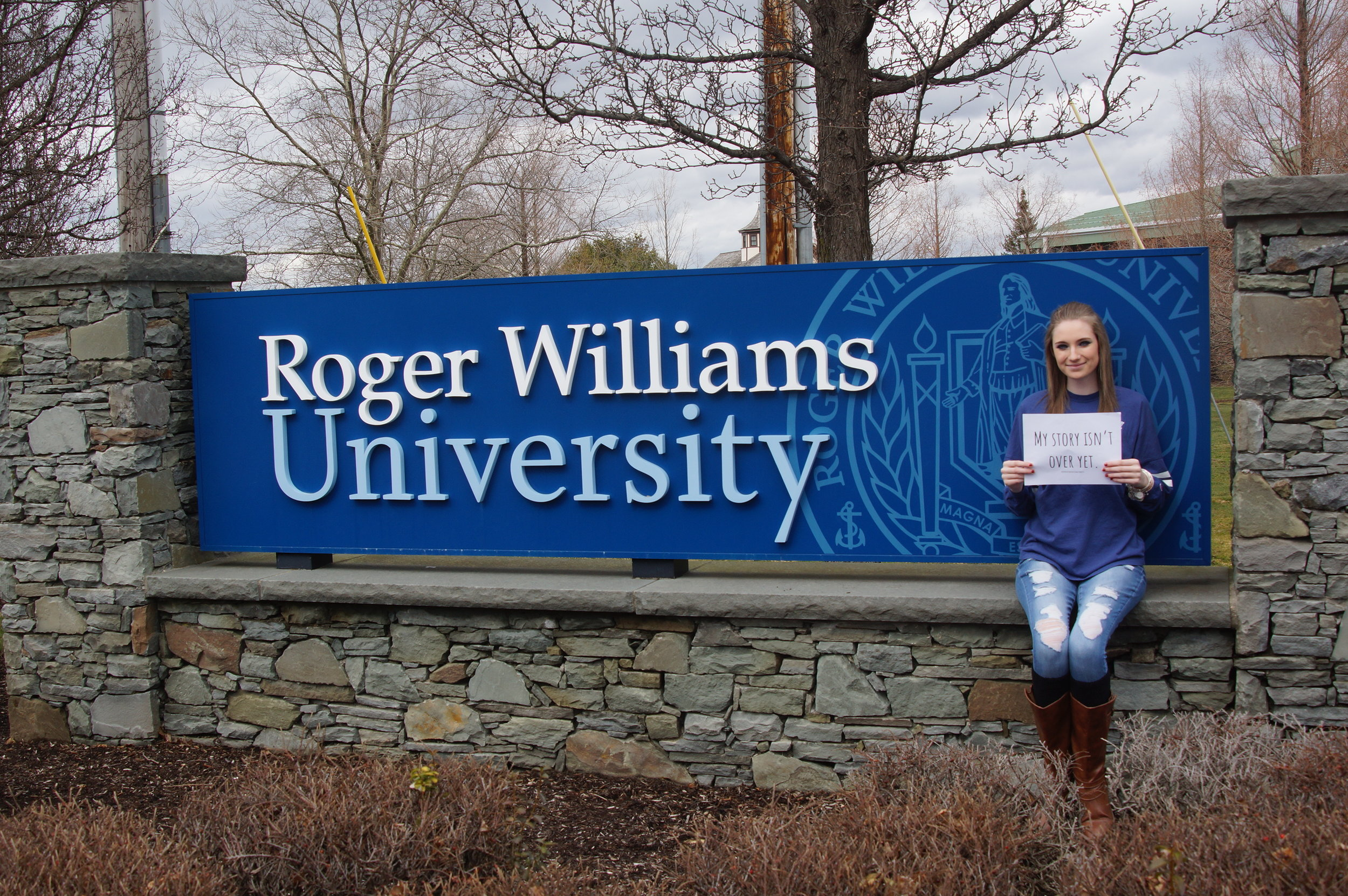 Jen, our campus rep for Roger Williams University.
