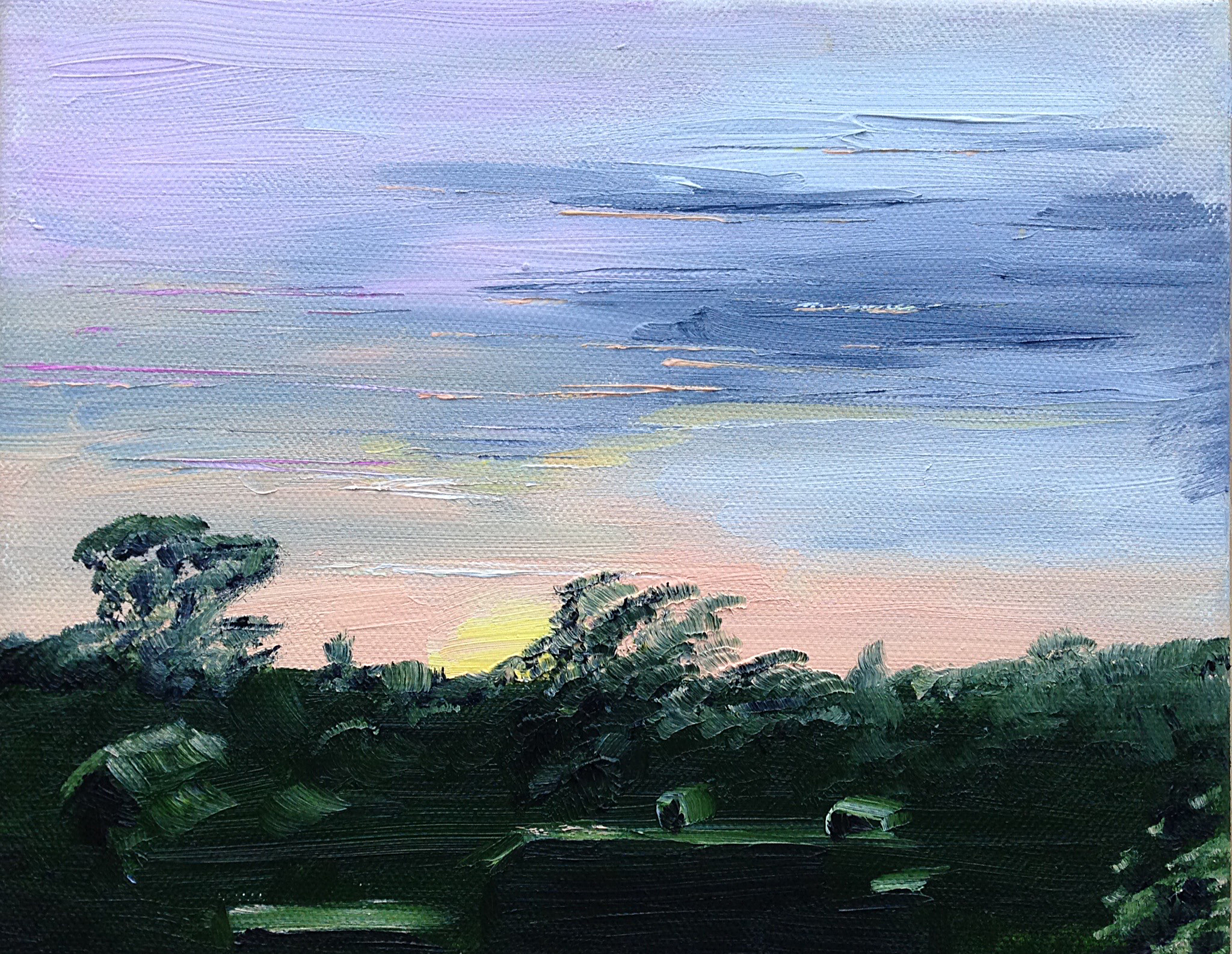 May 25, 5:44am, 2/30 8 x 10, oil on canvas.